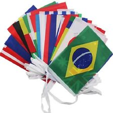 32 FLAGS OF World Cup Group OF THE EU EURO EUROPEAN UNION FABRIC BUNTING