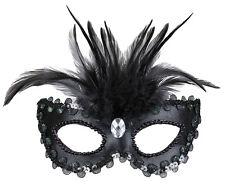 Venezianische Augenmaske Nero NEU - Karneval Fasching Maske Gesicht