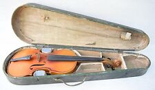 Vintage Collectible Full Size Czech Stradivarius Model Violin In Thick Case