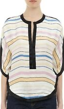 Isabel Marant Étoile Striped Waffle-Silk Overton Top Size FR 40