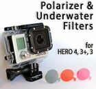 Filters for GoPro HERO 4, 3+, 3 - Polarizer, Red & Magenta filters (Diving)