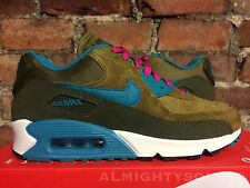 Nike Air Max 90 Leather Dark Loden Emerald Green UK5.5 EU39 PINK RARE 768887 300