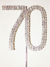Number 70, Large Diamante Cake Topper. Stunning, Birthday, Celebration Cakes