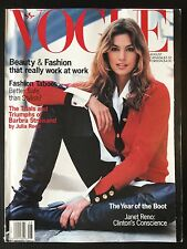 AMERICAN VOGUE, August 1993. BARBRA STREISAND Cindy Crwaford DREW BARRYMORE