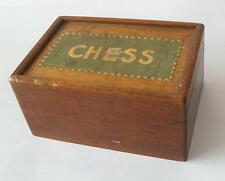 empty Antique vintage retro shabby decorative wood chess box