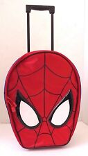 Marvel The Ultimate Spider-Man Kids Boys Red Blue Trolley Travel Bag Luggage NWT