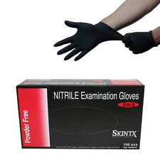 SKINTX Black Nitrile Disposable Gloves - Size X-Large, Great for mechanics