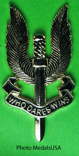British Special Air Service SAS Winged Dagger Cap Pin