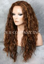 HEAT SAFE Lace Front wig Wavy Auburn mix Curly NUO 4-27-30