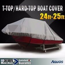 24/25' Heavy-Duty Trailerable T-top Waterproof Boat Cover All Weather Cover