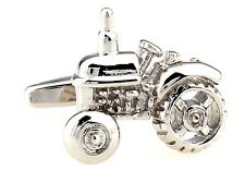 Tractor Silver Cufflinks Wedding Fancy Gift Box Free Ship USA
