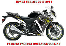 FX EFFEX FACTORY DEKOR GRAPHIC KIT HONDA CBR 250,600RR,1000RR ROCKSTAR OUTLINE B