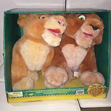 """16"""" Talking Kovu & Kiara Interacts One Another Plush Toys The Lion King DISNEY"""