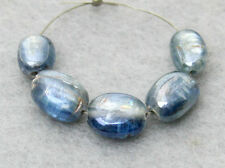 Natural Blue Kyanite Smooth Double Polish Oval Nugget Gemstone Beads