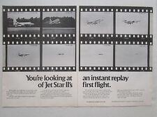 9/1976 PUB LOCKHEED GEORGIA JETSTAR II BUSINESS JET FIRST FLIGHT ORIGINAL AD