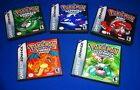 EMPTY CASES - Nintendo Pokemon Leaf Green Fire Red Ruby GBA Game boy Advanced SP