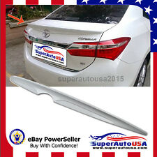Painted Pearl White TOYOTA ALTIS Corolla Sedan 4D Trunk Spoiler Wing 2016 NEW