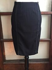 Anthropologie NWT Byron Lars Beauty Mark Tailored Laser Cut Pegged Skirt S 4