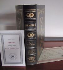 Memoirs by David Rockefeller- Signed 1st Limited Edition COA - Easton Press