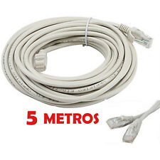 CABLE DE RED 5 METROS RJ45 CAT 5E UTP ETHERNET PC ROUTER INTERNET