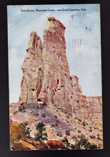 1911 GRAND JUNCTION COLORADO CO Twin Rocks Monument Canon Old Postcard PC