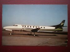 POSTCARD AIR WEST WING AIRLINES SWEARINGEN METRO III  AEROPLANE