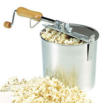 Norpro 581 Hand Crank Stove Top Popcorn Popper Maker Machine 4 Quart