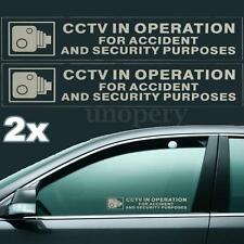 2x CCTV in Operation for Accident&Security Purposes Car Van Window Signs Sticker