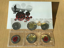 2015 Remembrance Coin Pack Flanders Fields and Poppy - Toonie and Poppy Quarter