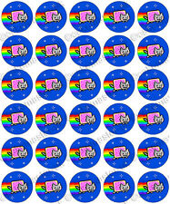 30 X Nyan Cat Comestible Arroz Oblea Papel De Fiesta fresco Cupcake Toppers