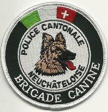 SCHWEIZ: Kantonspolizei K-9  NEUCHATELOISE Polizei CANTONALE CANINE Police Patch