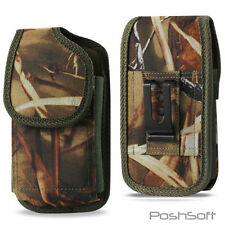 Belt Clip Holster Pouch Carrying Case For Apple/Samsung Large Phone Nylon - CAMO