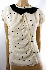 MARC BY MARC JACOBS POLKA DOTS SILK SHORT SLEEVE SHIRT SIZE 0