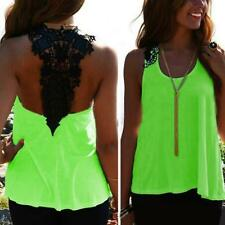 Fashion Womens Summer Hollow Vest Top Sleeveless Shirt Blouse Casual Tank Tops
