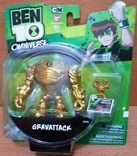 "Bandai Ben 10 Omniverse 4"" Gold prize Gravattack action figure mint on card"
