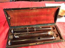 Superbe flûte traversière ancienne signée BUFFET PARIS En Palissandre 5 Cles