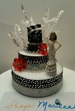 QUINCEANERA SWEET 15 HOLLYWOOD THEME BIRTHDAY CAKE TOPPER DECORATION CENTERPIECE