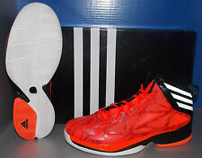 MENS ADIDAS CRAZY FAST in colors INFRA RED / RUNNING WHITE / BLACK SIZE 13
