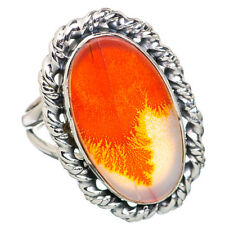 Scenic Dendritic Agate 925 Sterling Silver Ring Size 8.25 Jewelry R812319F