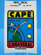 "Vintage... ""CAPE CANAVERAL FLORIDA"" SPACESHIP  STICKER / DECAL (NEW OLD STOCK)"