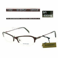 Burberry B 8457 0RT2 Half-Rimless 53/18/140 Eyeglasses Rx Made in Italy - New