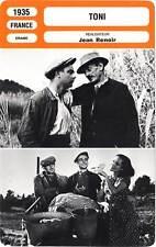 FICHE CINEMA : TONI - Blavette,Montalván,Renoir 1935