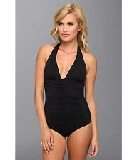 L*Space The Ruched One Piece Black Swimsuit Size 4 NWT $158