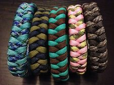 Paracord Survival Bracelet Fish Tail Weave USA CUSTOM MADE TJParacord