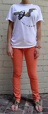 WORK CUSTOM Orange Jeans 26/29 USA Skinny