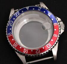Caja de reloj de estilo GMT Vidrio Trasero ETA 2836 ETA 2824-2 Seagull ST1612, Miyota 8205