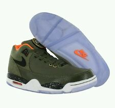 New Nike Flight Squad PRM QS Olive/Black/Orange Mens Shoes SZ 11.5 M 679249-200