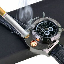Hot Watch Electronic Windproof USB Rechargeable Arc Cigarette Lighter Flameless