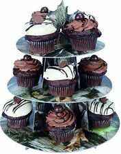 NEXT CAMO CAMOUFLAGE CUPCAKE STAND AND 36 CUPCAKE FOIL LINER CUPS BIRTHDAY PARTY