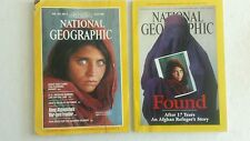 National Geographic June 1985 + April 2002 AFGHAN GIRL Found